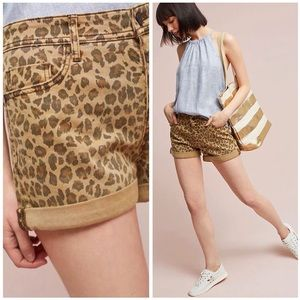 [Anthropologie] Pilcro Hyphen Leopard Shorts